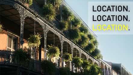 Locations for commercials? New Orleans and Louisiana offers the most varied number of locations for film production of any place in the country.